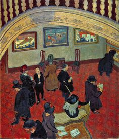 Spencer Gore (1878-1914). Gauguins and Connoisseurs at the Stafford Gallery, 1911