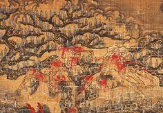 【五殿閻羅王】局部7 元 陸仲淵 絹本著色金泥掛軸。 縱85.9 cm橫50.8 cm 14世紀 奈良國立博物館藏。
