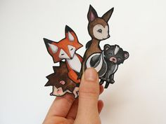 Vinyl woodland stickers Hey, I found this really awesome Etsy listing at https://www.etsy.com/listing/119438658/fox-hedgehog-deer-skunk-vinyl-stickers