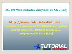 acc 349 week 4 individual assignment