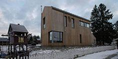 SIBIRSK LERK: Dette huset på Rykkinn har sibirsk lerk på kledningen og vil grånes med været og tiden. Arkitektkontor er Poulsson/Pran.