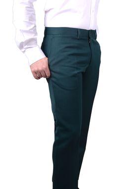 Pantalon hombre  Verde Lana 100% www.lacolonial.eu