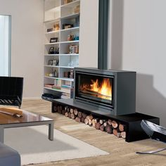 Online shopping from a great selection at Home Store. Fireplace Showroom, Concrete Fireplace, Farmhouse Fireplace, Home Fireplace, Modern Fireplace, Fireplace Design, Fireplaces, Log Burning Stoves, Wood Burning Fires