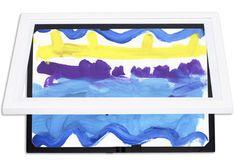 Li'l DaVinci Store & Display Art Cabinets & Art frames Artwork Display, Frame Display, Picture Table, Art Cabinet, Frame Store, Childrens Artwork, Art Storage, Child Love, Office Decor