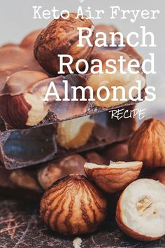 Clean Eating Diet, Roasted Almonds, Air Fryer Recipes, Ranch, Stuffed Mushrooms, Low Carb, Keto, Snacks, Vegetables