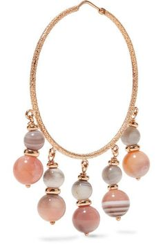 Recharmed 18-karat Gold Agate Hoop Earrings - one size Carolina Bucci