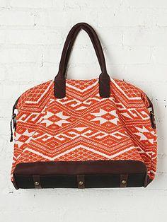 sweet patterned weekend bag