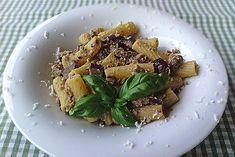 Pasta light con pesto di melanzane e ricotta affumicata