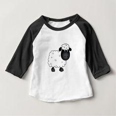 #black - #Baby Sheep For Ewe Baby T-Shirt