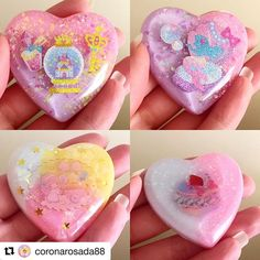 Oh yeah. Another Resin Obsession customer created some fantastic charms with our molds. aWeSoMe!  #resin #resincharm #resincharms #kawaii #kawaiijewelry #heart #heartcharms #makersgonnamake #makingthemagic