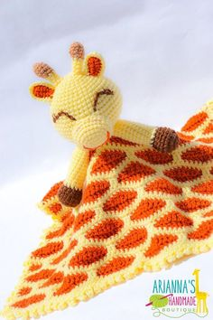 Items similar to Giraffe lovey blanket / Rusty the Giraffe Lovey / Snuggle blanket / Lovey Blanket / Comfort blanket / Giraffe blanket / on Etsy Giraffe Crochet, Crochet Lovey, Crochet Amigurumi, Cute Crochet, Baby Blanket Crochet, Crochet For Kids, Crochet Crafts, Crochet Dolls, Crochet Yarn