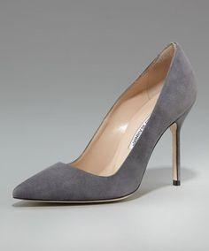 Grey suede classic Manolos