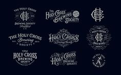 Collection of hand-drawn Logotypes from 2015 on Behance