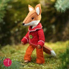 Felix Fox Felt Doll Sewing Pattern by Cynthia Treen $8 #kitschydigitals