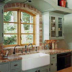 Farmhouse Sink, cabinet color