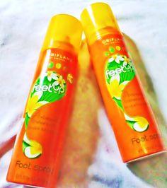 Foot Spray dengan aroma bunga frangipani dan bunga bitter orange dengan minyak esensial Peppermint yang mengandung antiseptik , cocok untuk menghilangkan bau kaki dan pegal-pegal.
