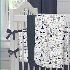 Baby Blanket in Navy Fox by Carousel Designs.
