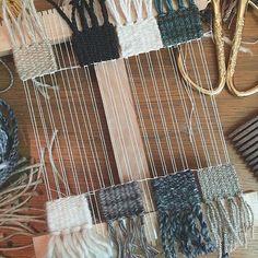 Woven Pendant Necklace / Weaving Fiber Art by wabisabitextileco