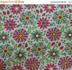50% OFF SALE Cotton Fabric, Quilt, Home Decor, Modern, MEADOW Melody by Wilmington Prints, Fast Shipping Md140