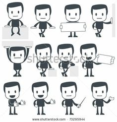 Vector illustration of a simple cute characters for use in presentations, manuals, design, etc. by artenot, via Shutterstock