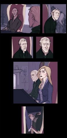 By Makani, Lucius and Narcissa from the first chapter of Deathly Hallows. For me, this part was 100x better than Ron/Hermy's kiss!