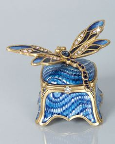 Reese Dragonfly Box by Jay Strongwater at Horchow.