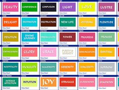 Colors And Their Meanings all colors and their meanings - bing images | auras | pinterest