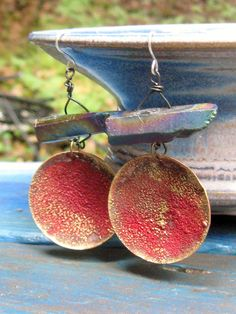 Portals  handmade copper rainbow pyrite and by artintheredwoods, $39.00