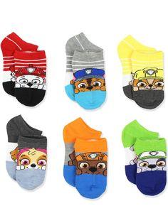 B7 NEW Paw Patrol Crew Socks 2T 4T Toddler Girl 6Pack