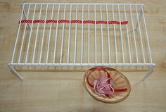 Ribbon Weaving, what a fun way to do this! This is really fun and the children love to do it, used seasonal ribbon that gets changed often to keep interest up.
