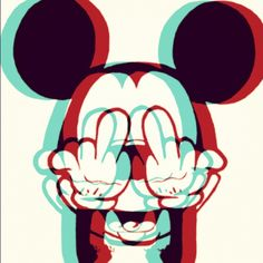 Mickey Mouse Middle Finger Up Your Flip Off Cartoons To Draw In