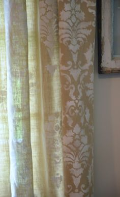StoneGable: PAINTED CURTAINS DYI