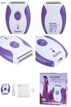 [Visit to Buy] Kemei Rechargeable Women Epilator Electric Shaver Razor Wool Depilador for Face Body Hair Removal Lady Bikini Shaving Machine #Advertisement