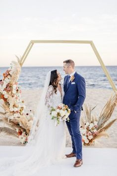 A Glamorous Oceanfront Destination Wedding at Solaz Los Cabos – Style Me Pretty Beach Wedding Attire, Boho Wedding, Summer Wedding, Beach Weddings, Destination Weddings, Wedding Ideas, Wedding Beach, Wedding Details, Dream Wedding
