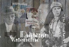 Schilderij - Rudolph Valentino - Loekie Grijspaardt - 120x80 cm