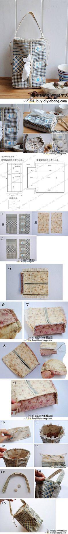 Couvre-boîte  pour papiers mouchoirs.