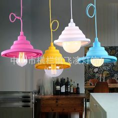168.00$  Watch here - http://ali3v6.shopchina.info/go.php?t=32407985578 - Europe And The United States Diy Creative Can Be Folded Color Silicone Pendant Lights Clothing Store Children's Room Dining 168.00$ #magazineonlinewebsite