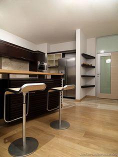 Kitchen Idea Of The Day Modern Dark Wood Kitchens Cabinets