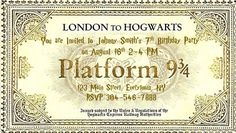 Harry Potter Ticket, Harry Potter Letter, Harry Potter Font, Harry Potter Printables, Hogwarts Letter, Harry Potter Birthday, Hogwarts Express Ticket, Custom Tickets, Harry Potter Christmas Decorations