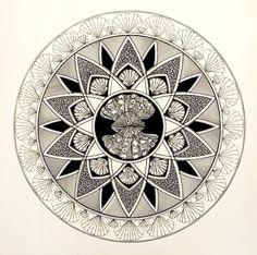 Kristin Reiber Harris  pen and ink drawing  shells geometric drawing   circles
