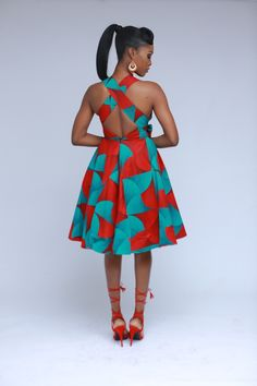 This dress features a bold and feminine print with a sexy cross back which can be tied to both back and front. -Padded to give the bust an extra lift -inserted soft net with back zipper Best African Dresses, Latest African Fashion Dresses, African Print Dresses, African Print Fashion, African Attire, African Wear, Sexy Outfits, Trendy Ankara Styles, Baby Girl Dress Patterns