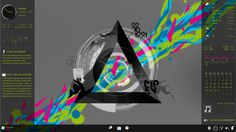 just made new wallpaper that look cool even by just using enigma and arc clockrainmeters:enigma by:Kaelriarc clock by:Burnwell88