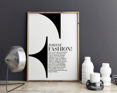 "New to StyleScoutDesign on Etsy: Fashion Print  ""F"" only Typography Fashion art wall art illustration wall decor (5.44 USD)"