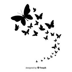 Excellent collection of butterflies Vector Cherry Blossom Background, Butterfly Background, Butterfly Logo, Butterfly Tattoo Designs, Butterfly Watercolor, Blue Butterfly, Floral Watercolor, Butterfly Stencil, Butterfly Coloring Page