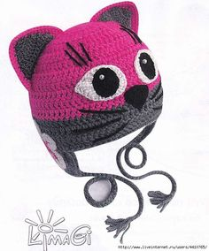 Cappelli all'uncinetto per bimbi, schemi dal mondo web / www crochet hat patterns for kiddos Crochet Baby Beanie, Crochet Kids Hats, Crochet Cap, Crochet Toys, Baby Knitting, Knitted Hats, Crochet Beret, Crochet Character Hats, Unicorn Doll