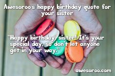 macaroon as gifft for birthday