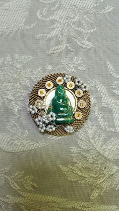Buddha beauty pendant. Repurposed antique peices.