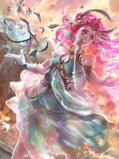 Artist: Yu-Han Chen aka Yu-Han - Title: [Skyfall] Astra, Celestial Dreamer - Card: Astra, Celestial Dreamer (Skyfall)
