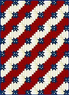 I would love to know how to make quilts! Pattern: Stars & Stripes Forever make for Quilts of Valor Flag Quilt, Patriotic Quilts, Star Quilts, Quilt Blocks, Bargello Quilts, Patriotic Crafts, July Crafts, Log Cabin Quilt Pattern, Log Cabin Quilts