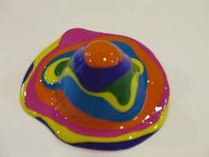Rainbow Volcano: Spring Kids Crafts